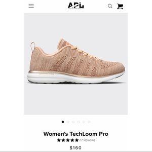 NEW APL Rose Gold Metallic Techloom Pro Sneakers